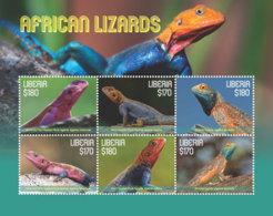 Liberia  2018 Fauna African Lizards    I201901 - Liberia