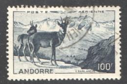 Isard Et Paysage Poste Aérienne 1 - Oblitéré - Poste Aérienne