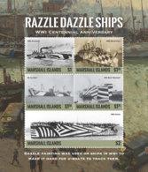 Marshall Islands   2018  WORLD WAR I ,RAZZLE DAZZLE SHIPS   I201901 - Marshalleilanden