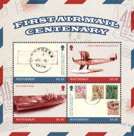 Montserrat    2018    First Air Mail Centenary, Airplane , Stamp On Stamp  I201901 - Montserrat