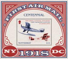 Montserrat    2018    First Air Mail Centenary, Airplane  I201901 - Montserrat