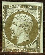RARE NAPOLEON N°11 1c Olive NEUF Avec GOMME* Cote 260€ PAS AMINCI - 1853-1860 Napoléon III.