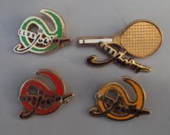 Broche Sport 003, Lot De 4 Broches FFT Fédéeation Française De Tennis Club Junior - Tennis
