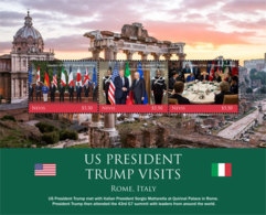 Nevis   2018   U.S. PRESIDENT TRUMP VISITS  ROME   I201901 - St.Kitts And Nevis ( 1983-...)