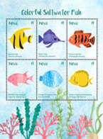 Nevis   2018  Fauna  Color Saltwater Fish   I201901 - St.Kitts And Nevis ( 1983-...)