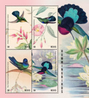 Nevis   2018  Fauna  Hummingbirds  And Flowers  I201901 - St.Kitts And Nevis ( 1983-...)