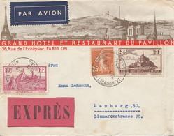 Frankreich: 1904: Luftpost/Expres Von Le Bourget Port Aerien Nach Hamburg - Ohne Zuordnung