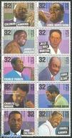 United States Of America 1995 Jazz 10v [++++], (Mint NH), Performance - Music - Popular Music - Jazz Music - Vereinigte Staaten