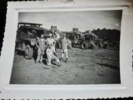 PHOTO ORIGINALE _ VINTAGE SNAPSHOT : INDOCHINE _ BLINDES Français _ SCOUTS CARS HUMBERT   //Div.3 - War, Military