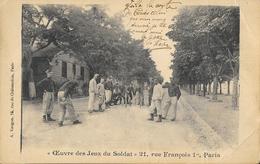 Oeuvre Des Jeux Du Soldat - Le Jeu De Quilles - Edition A. Vaugon - Militaria