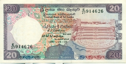 20 ROUPIES 1990 - Sri Lanka