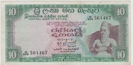 10 ROUPIES 1973 - Sri Lanka