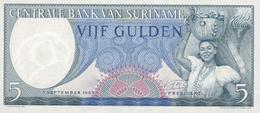 5 FLORINS 1963 - Surinam