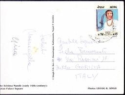 NEPAL - FALGUNANT On Card KRIHNA MANDIR - 1993 - Buddhismus