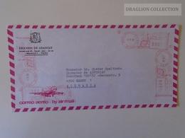 DEL004.27  PERU  Inflation Airmail Cover 1990 - 4 Machine Franking Stamp San-Isidoro LIMA Abancay - Peru