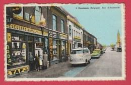 Estaimpuis  - Rue D'Audenaerde- Façade De Café-Tabac- Plaques Emmaillées ( Belle Animation -Van V.W. ) - Estaimpuis