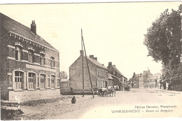 CPA Wormhout Wormhoudt Route De Bergues 59 Nord - Wormhout