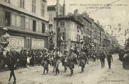 NANCY Rentrée Triomphale Du 20e Corps 27 Juillet 1919 Le Défilé Rue Saint Dizier   RV - Nancy