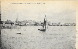 St Saint-Vaast-la-Hougue (Manche) - Le Port, Barque De Pêche à Voile - Carte ND N° 1 - Saint Vaast La Hougue