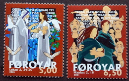 Faroe Islands  2001   MiNr.412-13   MNH (**)   ( Lot F 1749 ) - Faeroër