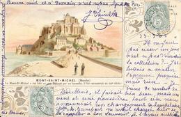 Le Mont-Saint-Michel (Manche) - Illustration Signée - Edition Capmartin - Carte Dos Simple 1903 - Le Mont Saint Michel