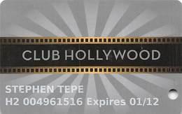 Hollywood Casino - Aurora, IL - Club Hollywood Slot Card - Casino Cards