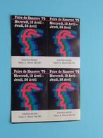 FOIRE De HANOVRE '79 > 4 Stickers ( Zie/voir Foto Voor/pour Détails ) Hannover Allemagne ! - Ciencia & Tecnología