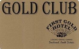 First Gold Hotel Casino - Deadwood, SD - BLANK Slot Card - Casino Cards