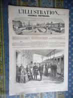 L' ILLUSTRATION 21/12/1861 SCULPTURE MILAN FANTACHIOTTI ITALIE VESUVE MONT BLANC CHINE PAGODE ORFEVRERIE CHRISTOFLE - Periódicos