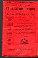Carte Vélo-kilométrique N°24 Environs De Toulouse Et Foix 1/250000. 3 Couleurs (PPP18177) - Roadmaps