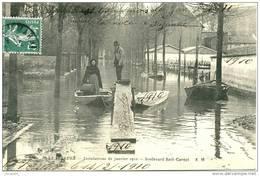 INONDATIONS LE PERREUX (94) - LE BOULEVARD SADI-CARNOT - Bb-221 - Le Perreux Sur Marne