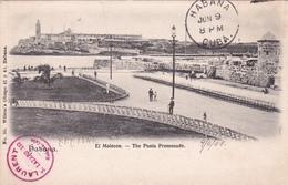 CPA Cuba - Havane (Habana) El Malecon - The Punta Promenade - 1908 - Cuba