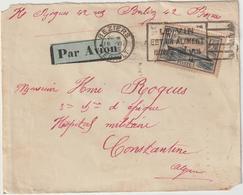 ESC/avion 1F50 Normandie OMEC Béziers Hérault -> Algérie 1935 - Postmark Collection (Covers)