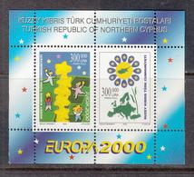 Cyprus Turkey MNH Michel Nr Block 19 From 2000 CEPT / Catw 8.00 EUR - Ongebruikt