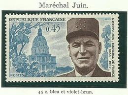 FRANCE - 1970 - MARÉCHAL JUIN - YT N° 1630 - TIMBRE NEUF** - France