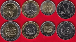 Kenya Set Of 4 Coins: 1 - 20 Shillings 2018 UNC - Kenya