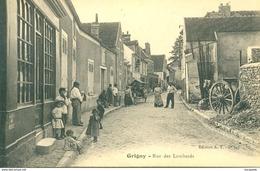 SUPERBE PLAN GRIGNY (91) - LA RUE DES LOMBARDS - Bb239 - Grigny