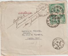 Pneumatique Paris 118 Format Non Admis Et Reversé Au Service Postal 1935 - Marcophilie (Lettres)