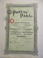 Port Of Para - Action Privilégiée - Capital 17.500.00 $ - Transports