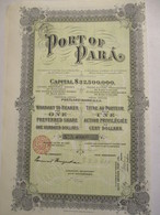 Port Of Para - Action Privilégiée - Capital 32.500.00 $ - Transports