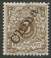 German Offices China - 1898 Numeral Overprint 3pf MLH *  Sc 1a - Offices: China