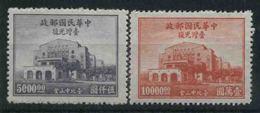 1948 Cina, 3° Anniversario Ritorno Formosa, Serie Completa Nuova (*) - Cina