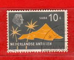 (Us.3) Nederlandse Antillen °-1958 - SABA.Yvert. 265 . Oblitérér. Usato.  Vedi Descrizione - Curaçao, Antille Olandesi, Aruba