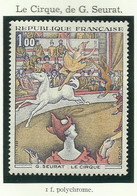 FRANCE - 1969 - LE CIRQUE DE G. SEURAT - YT N° 1588A - TIMBRE NEUF** - France