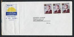 Marokko; MiNr. 1011 (3x) Auf Brief Nach Deutschland; E-18 - Marokko (1956-...)
