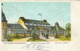 Gävle 1901 (Gävleborgs Län); Gefle Utställningen, Hufvudrestauranten - Circulated. (Officiella Brefkort) - Suède