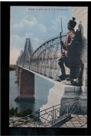ROMANIA Podul Regele Carol I La Cernavoda 1919 OLD POSTCARD - Roumanie