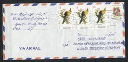 Iran; MiNr. 2583 X + 2680 (3x) Auf Brief Nach Deutschland;  E-28 - Iran