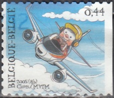 Belgique 2005 COB 3374A O Cote (2016) 1.30 Euro Avion - Gebraucht