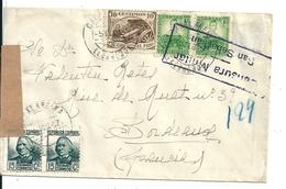Lettre Espagne-France Avec Censure Militaire San Sebastian - 1931-Aujourd'hui: II. République - ....Juan Carlos I